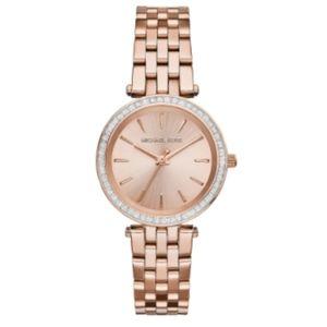 MICHAEL KORS Mini Darci Rose Gold Watch 3366 NWT